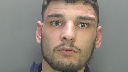 Jacob O'Dell (pictured) has been jailed after hitting a 12-year-old girl with his car when fleeing a