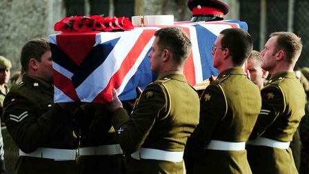 Private Robert Hayes' funeral was held in Burwell. Picture: Rui Vieira/PA Wire