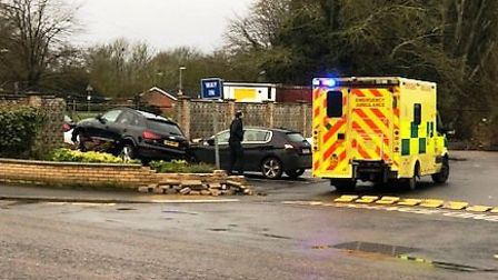 Pictures from the scene of the One Stop crash at The Causeway in March on January 15. Picture: Suppl