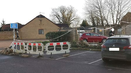 The aftermath at One Stop on The Causeway, March. Picture: Archant