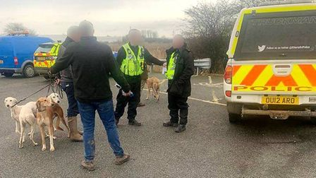 Men dispersed from county for various offences after being stopped in March. Picture: CAMBS POLICE