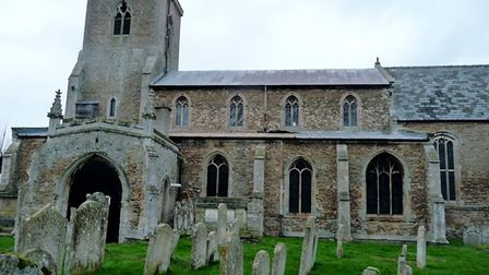 The lead from St Mary's church roof Doddington was stolen on Monday night. About 50% of the lead on