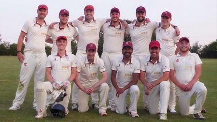 The City of Ely team that won the Cambridgeshire Senior League Division Two title in 2019. Picture: