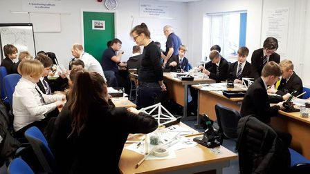 Engineering students from Witchford tour Stainless Metalcraft. Picture: JO GORDON