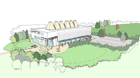 Plans to be unveiled for new University of Peterborough to be open by 2022. An artists impression is