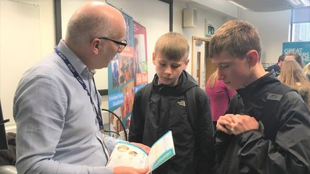 Students from Witchford take university tour to learn about future choices. Picture: JO GORDON