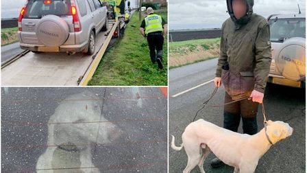 Hare courser caught in field near Isleham. Picture: CAMBS POLICE