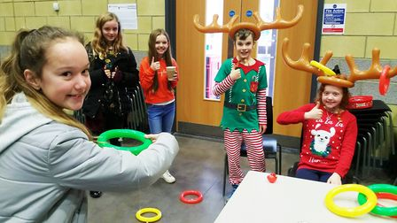 A charities fair was held at Ely College with students getting in the Christmas spirit by completing