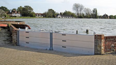 New fllood defence barriers to be installed at Welney by the Environment Agency. Picture; EA