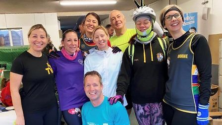 Three Counties Running Club were out in force across the area, as well as making their mark for char