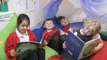 New reading area for Ely pupils at Spring Meadow thanks to £1,000 donation. Picture: Mike Rouse