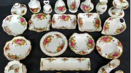 """This """"incredibly distinctive"""" bone china was stolen during a burglary at a house in Peterborough Roa"""