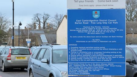 Barton road car park,Ely. Parking is predominantly free in the city but you can get a fixed penalty