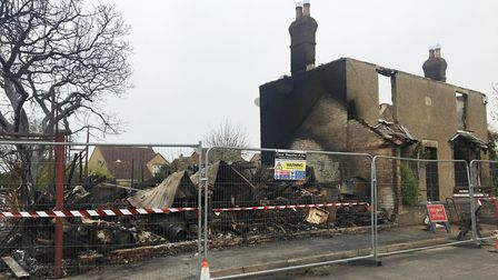 Fire-savaged house in March to be replaced with new family home. Picture: CLARE BUTLER.