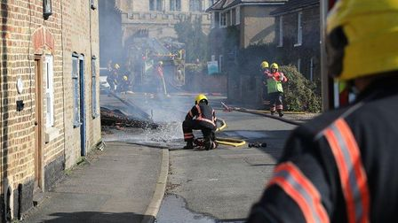 Fire-savaged house in March to be replaced with new family home. Picture: PETER WEST