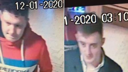 Do you recognise these men? Police would like to speak to them in connection with an assault in High