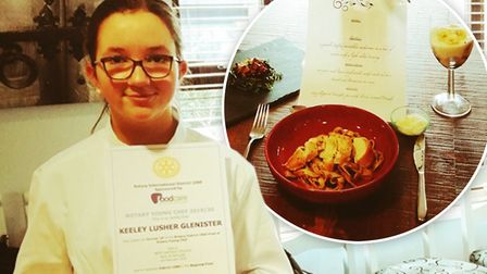 MasterChef! Keeley Lusher-Glenister (pictured) has made it to the March Rotary Club Young Chef Compe