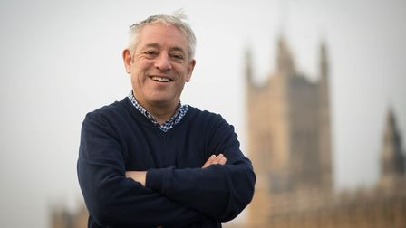 Proving to be popular in Ely, the former House of Commons Speaker John Bercow, here on Valentine's D
