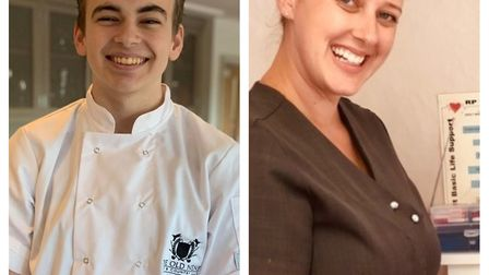 Harry Skoulding (left) from March and Gemma Sessions from Chatteris were named apprentices of the ye