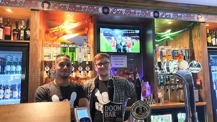 Bright future ahead at Kings Arms relaunch in Ely. The pub has been taken over by new owners. Pictur