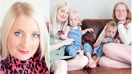 Brave mother-of-three Rachel Clements from Cambridgeshire has sadly passed away. Pictured here with