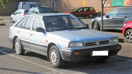File photograph of a 1989 Nissan Bluebird like the one stolen in March on January 25. Picture: Flick