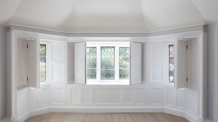 Dark panelling has been painted a neutral shade. Picture: Fairview New Homes