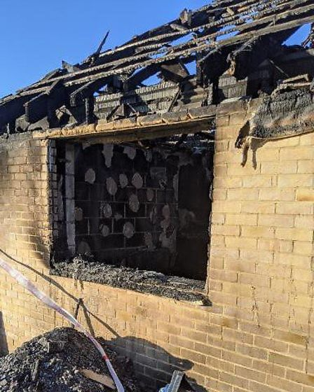 The extent of the damage caused inside a bungalow that caught fire in Stretham. Pictures: JAMIE DAMA