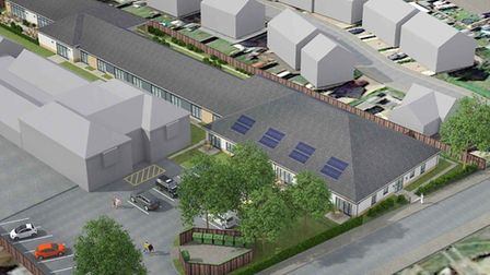 A 13-bed retirement complex with kitchen, bar area, community building and plant room will be built