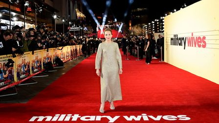 Kristin Scott Thomas attending the Military Wives UK premiere held in Leicester Square, London. Pict