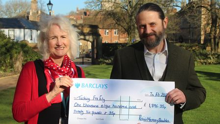 King's Ely raised £1,896 for mental health charity Talking FreELY. Picture: KING'S ELY