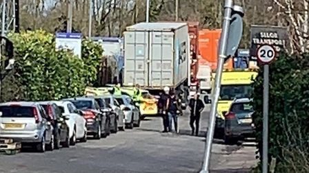 Man arrested on suspicion of immigration offences after police received reports of 'strange noises c
