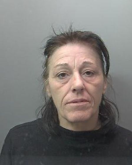 Teresa Gaskin (pictured) stole cash from a cancer charity collection box and robbed a charity shop i