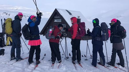 Ginette Heard (third from left) took on the arctic challenge in Sweden with teammates for cancer cha