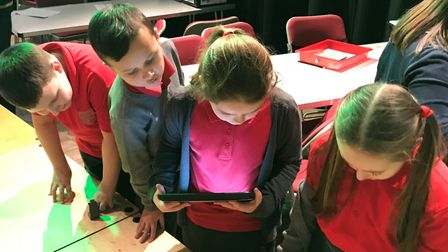 Pupils got technical in March as part of county-wide skills development project 'Bits and Bytes'. Pi