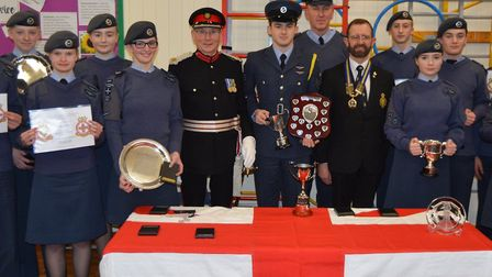 Cadets from 1094 Squadron Royal Air Force (City of Ely) at their annual awards night.