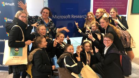 King's Ely students took part in Microsoft Research Cambridge's DigiGirlz event. Pictures: KING'S EL