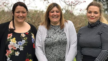 From left: Laura Barrow, Lisa Parrin and Charlotte Watkinson from Red Shoes Accounting in Littleport