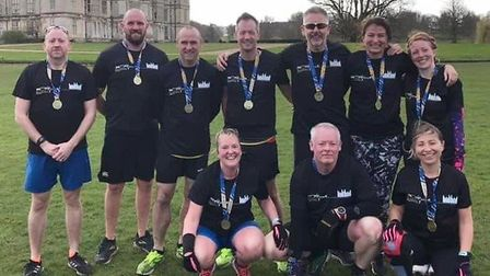 Three Counties Running Club took part in the Burghley 7 race. Picture: SARAH-JANE MACDONALD