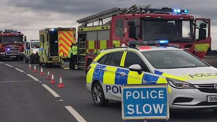 A driver who was found to be almost five times the legal alcohol limit after a crash on the A141 in