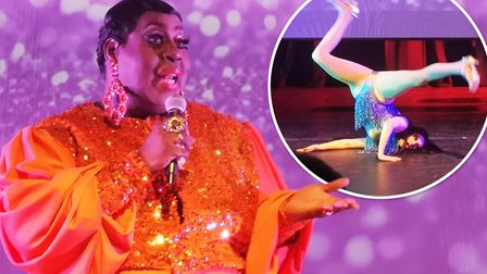 RuPauls Drag Race US and UK stars Latrice Royale and Cheryl Hole strutted their stuff at the Mumford