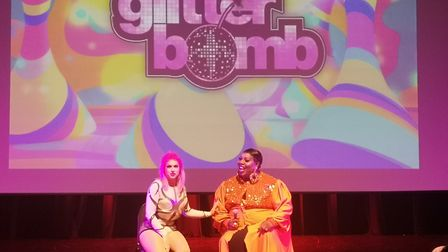 Latrice Royale and Cheryl Hole Q&A session. Picture: Harry Rutter/ARCHANT