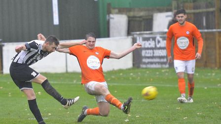 Cameron Watson conceded the penalty from which Aveley levelled against Soham Town Rangers last Satur