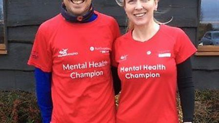 Gary Bligh and Sarah-jane Macdonald were appointed mental health champions for Three Counties Runnin