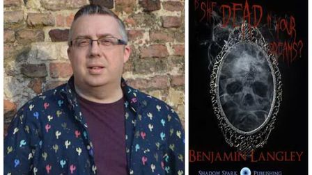 Witchford author Benjamin Langley (left) and his latest novel 'Is She Dead in Your Dreams?' Pictures