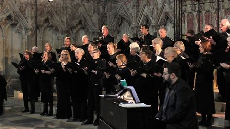 Ely Consort will perform at Ely Cathedral on Saturday March 21. It's members are pictured during pre