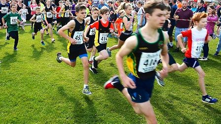 Youngsters take part in the Sutton Beast race. Picture: MICHELLE BIRD