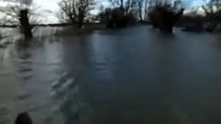 Flooded Welney caught on camera by Drew Berry of Fenland on Film and taken from his YouTube video of
