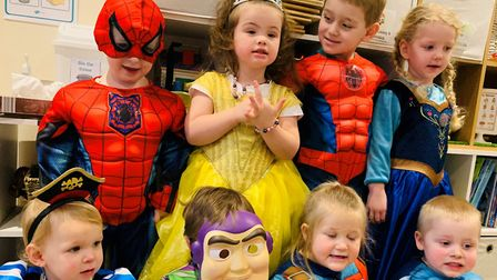 Caterpillar Childcare in Chatteris pulled out the stops for their children to mark World Book Day. P