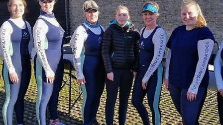 The Isle of Ely Ladies First Crew. From left: Sarah Inskip, Joanna Williamson, Jill McCulloch, Nicki